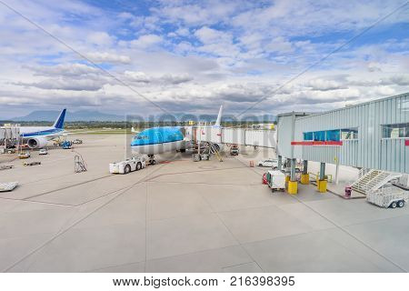 To the passengers' services is a modern airport building quality and qualified service and preparation of aircraft technical maintenance of aircraft