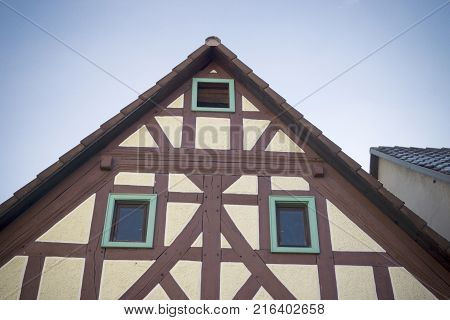 Historical half timbered house in hessen germany