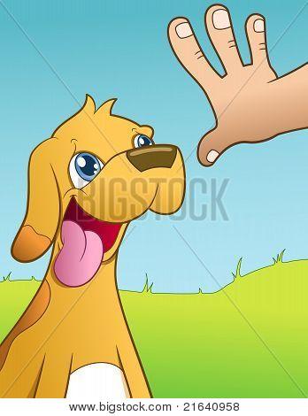 Stay Dog - vector illustration