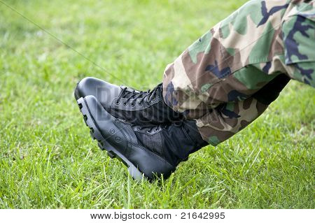 Armee Soldat Stiefel