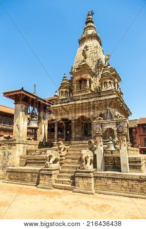 Bhaktapur Durbar Square Is The Plaza In Front Of The Royal Palace Of The Old Bhaktapur Kingdom.