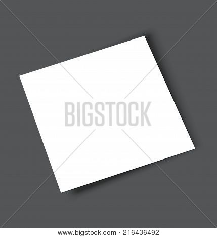 Blank square magazine catalogue brochure mockup cover template