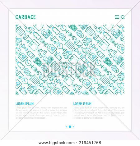 Garbage Concept Thin Vector & Photo (Free Trial) | Bigstock