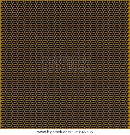 Texture of perforate golden flat