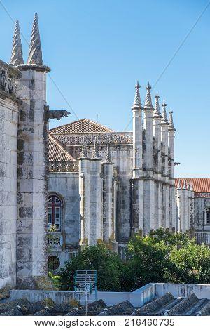Jeronimos Monastery or Hieronymites Monastery (Mosteiro dos Jeronimos) backside Lisbon Portugal