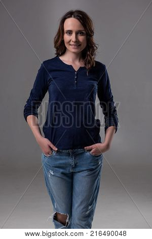 Attractive Woman In Casual