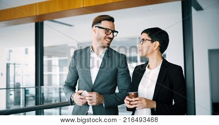 Business accountants working together at modern office