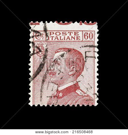 ITALY - CIRCA 1926 : Cancelled postage stamp printed by Italy, that shows portrait of king Victor Emanuel.