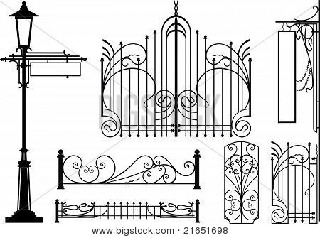 Old design elements of city
