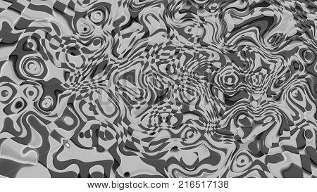 Abstract background psychedelic art. Digital illustration. 3d rendering