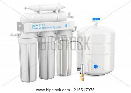 Reverse Osmosis System 3D rendering isolated on white background