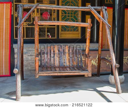 Antique Chinese Cannon Cart