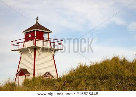 Wooden Lighthouse On Prince Edward Island