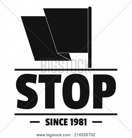 Social protest stop logo. Simple illustration of social protest stop vector logo for web