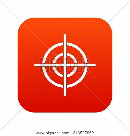 Target crosshair icon digital red for any design isolated on white vector illustration