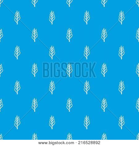 One spica pattern repeat seamless in blue color for any design. Vector geometric illustration