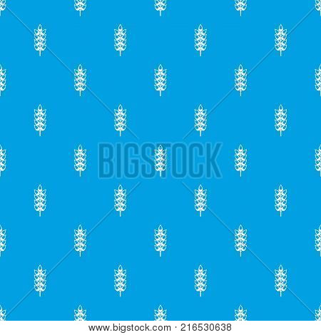Long spica pattern repeat seamless in blue color for any design. Vector geometric illustration