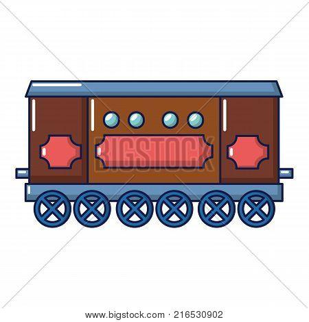 Compartment carriage icon. Cartoon illustration of compartment carriage vector icon for web