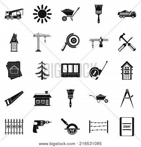 Sturdy construction icons set. Simple set of 25 sturdy construction vector icons for web isolated on white background
