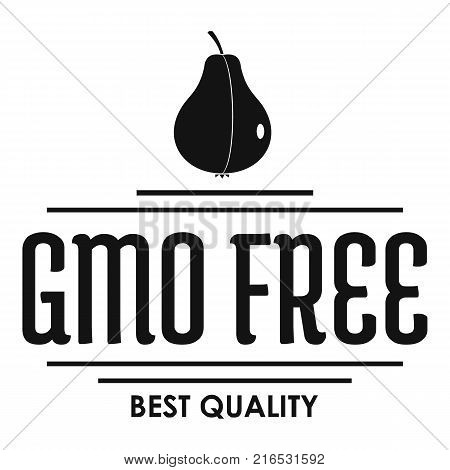 Gmo free bio logo. Simple illustration of gmo free bio vector logo for web
