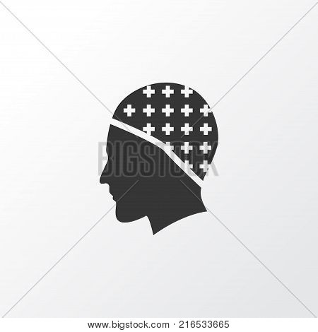 Headwear icon symbol. Premium quality isolated hair protection element in trendy style.
