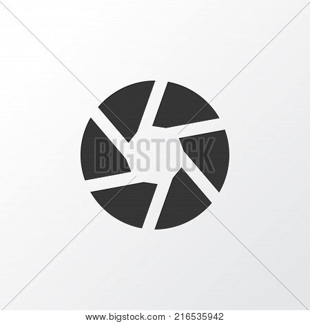 Shutter icon symbol. Premium quality isolated focus element in trendy style.