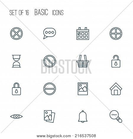 Network icons set with estate, image, positive and other safeguard elements. Isolated vector illustration network icons.