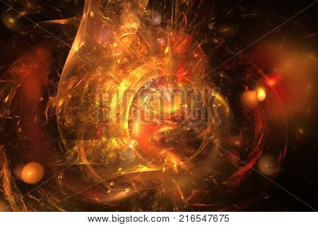 Abstract Fantasy Steampunk Background. Digital Fractal Artwork In Black And White Colors. 3D Renderi
