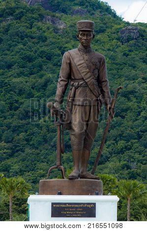 Ratchapak Park, Hua Hin, Prachuap Khiri Khan Province, Thailand. - OCTOBER 11, 2015 : Great Giant 7 King Statues Hua Hin Thailand.
