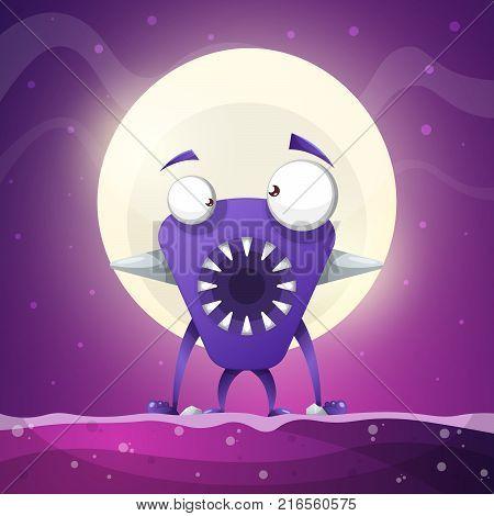 Fear, horror, hell cartoon illustration. Monster animals Vector eps10