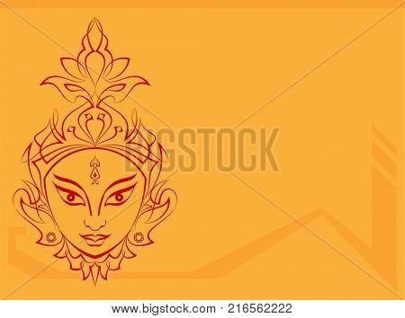Durga Goddess of Power Illustration