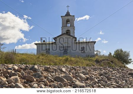 Church of Introduction of Blessed Virgin Mary to the Temple in the village Goritsy of the Vologda region, Russia
