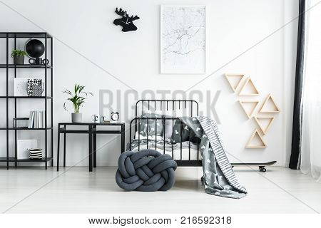 Wooden Shelves On The Wall