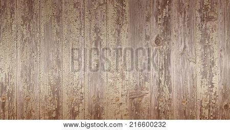 background with wooden planks in brown tones, lighter in the middle, darker on the top and bottom margins