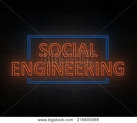 Social Engineering Concept.