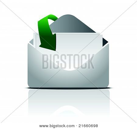 You've got mail. illustration isolated on white