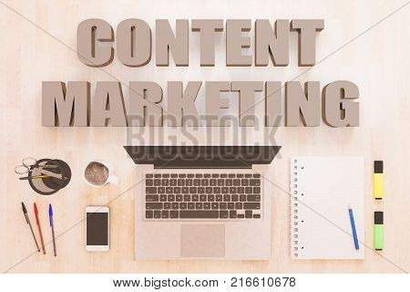 Content Marketing Text Concept