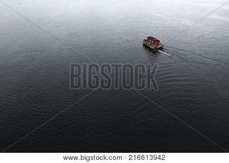 raft motorboat sauna in one tourist boat