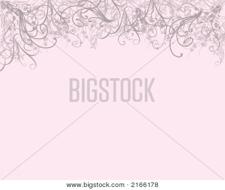 Gray Flower Swirlies