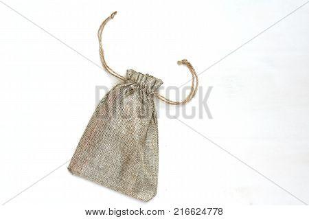 Sack Bag on White Background.Burlap sacks isolated on white background