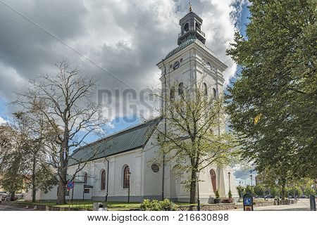 The church in the swedish town of Varberg.