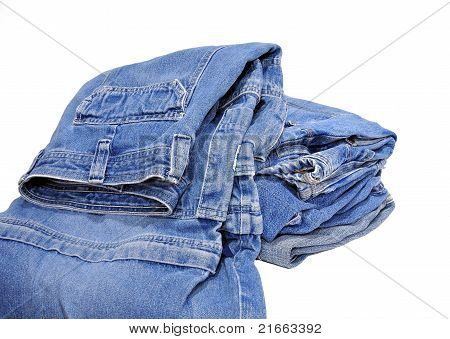 Stack of jeans