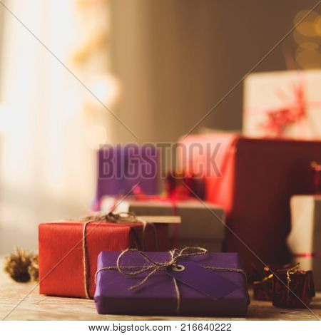 Beauty Wrapped Christmas Gift Boxes