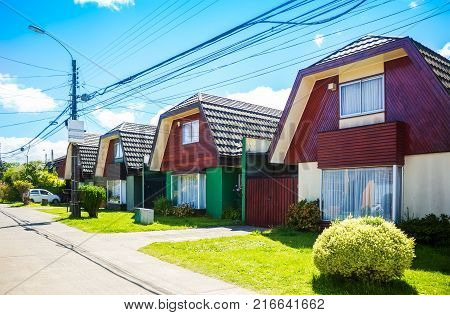 Traditional middle class dwelling in Valdivia Chile