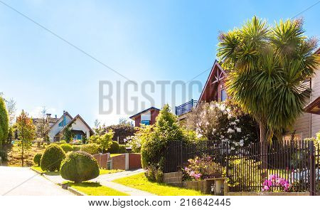 Chilean upper middle class neighborhood in Valdivia