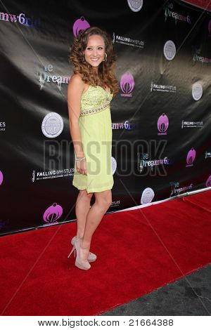 LOS ANGELES - JUL 6:  Lauren Mayhew arriving at the Dreamworld Benefit Concert for Falling Whistles at King King Club on July 6, 2011 in Los Angeles, CA