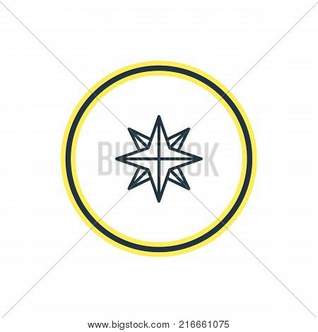 Vector Illustration Of Compass Outline. Beautiful Location Element Also Can Be Used As Orientation Element.