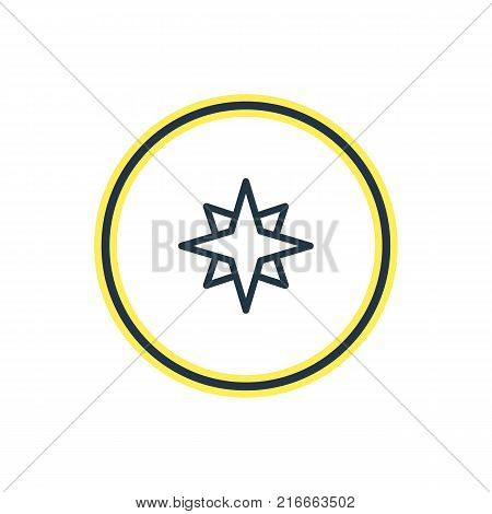 Vector Illustration Of Star Outline. Beautiful Constellation Element Also Can Be Used As Favorite Element.