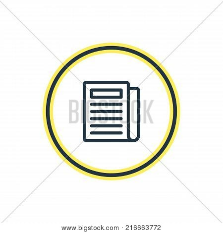 Vector Illustration Of Newspaper Outline. Beautiful Music Element Also Can Be Used As Daily Press Element.