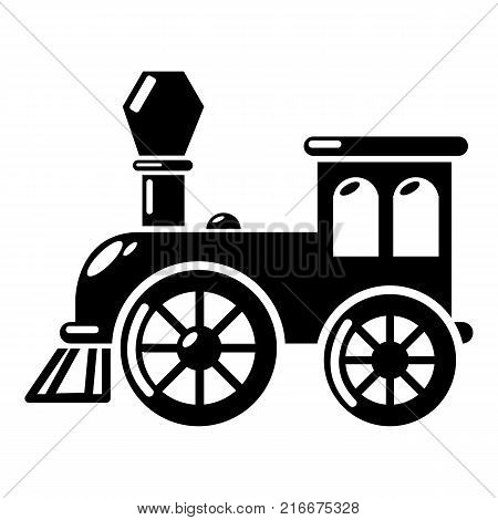 Old train icon. Simple illustration of old train vector icon for web